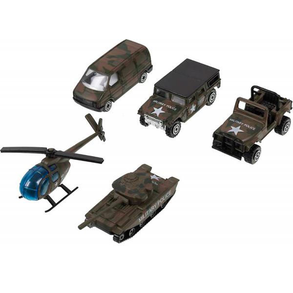 Купить Welly 97506C Велли Игровой набор Военно-полицейская команда 5 шт, Машинка Welly