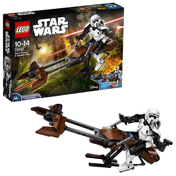 Купить LEGO Star Wars 75532 Конструктор ЛЕГО Звездные Войны Штурмовик-разведчик на спидере, Конструктор LEGO