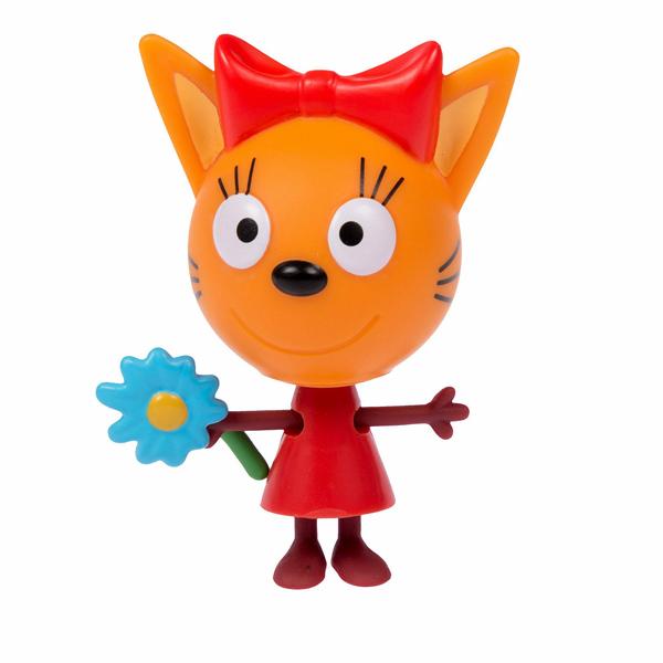Купить Три кота T16175 Фигурка Карамелька с цветочком, 7, 6 см, подвижные ножки и ручки, на блистере, Игровые наборы и фигурки для детей 3 Кота