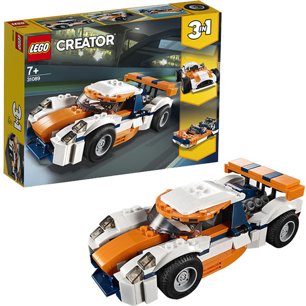 Купить LEGO Creator 31089 Конструктор ЛЕГО Криэйтор Оранжевый гоночный автомобиль, Конструктор LEGO