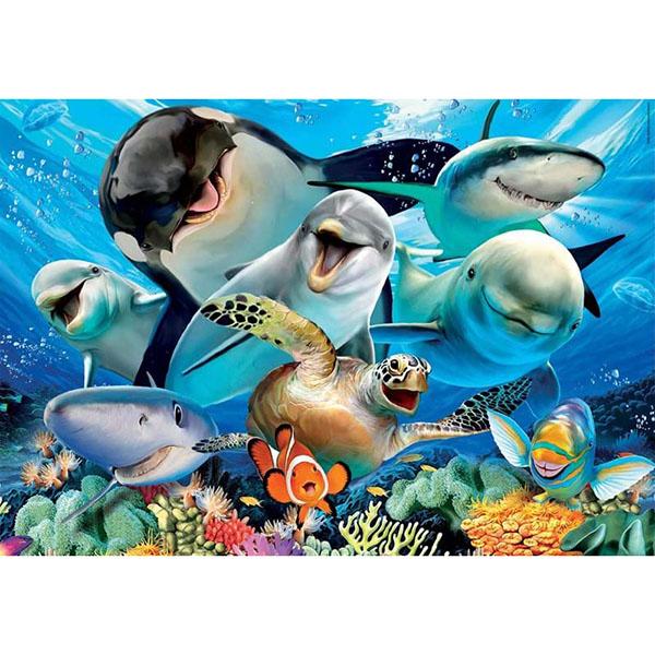 Educa 18062 Пазл 100 деталей Селфи под водой - Настольные игры