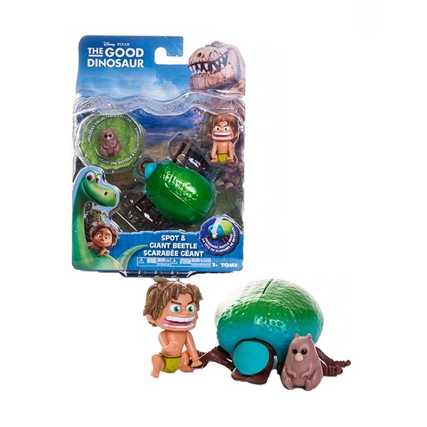 Good Dinosaur 62003 Хороший Динозавр Маленькая подвижная фигурка Спот и Жук