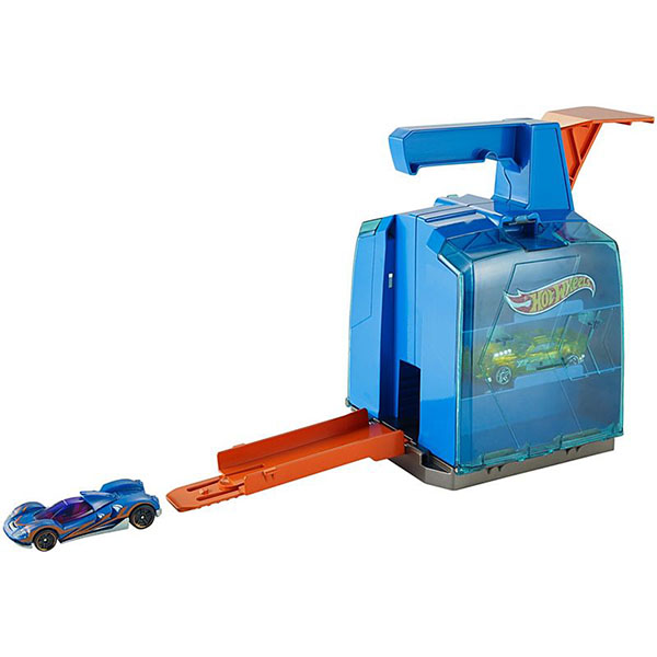 Купить Mattel Hot Wheels GCF92 Хот Вилс Конструктор трасс Пусковой гараж , Игровые наборы Mattel Hot Wheels