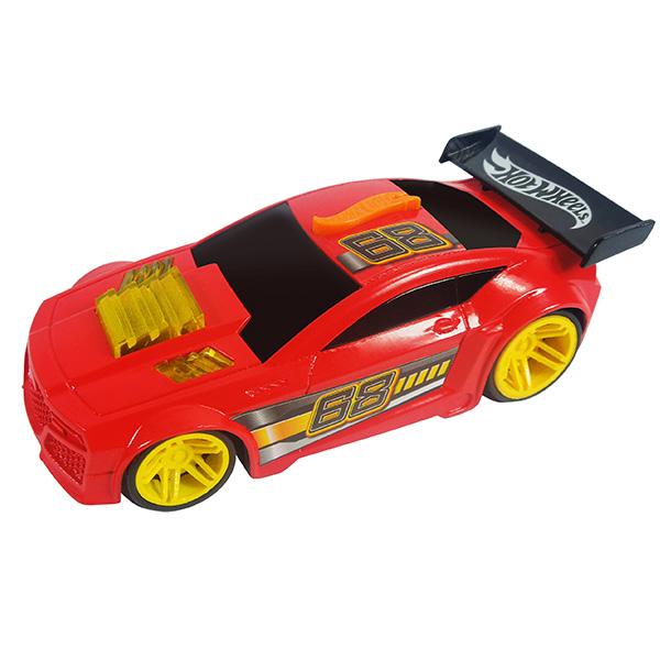 Купить Hot Wheels HW91602 Машинка Хот вилс на батарейках свет+звук, красная 13 см, Машинка Toy State