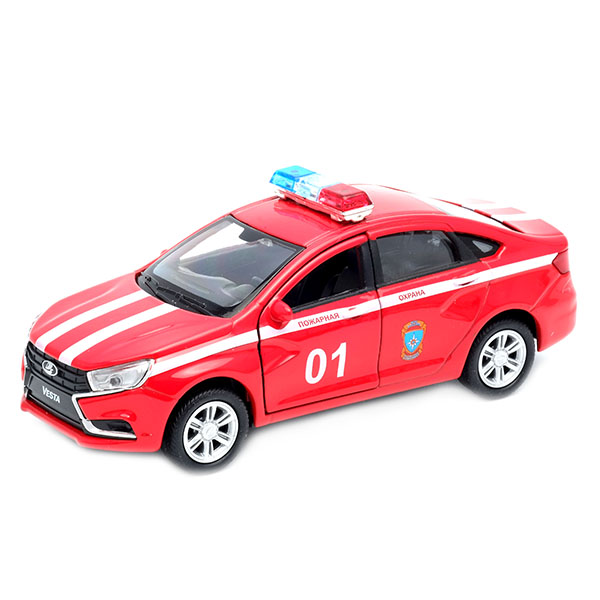 Купить Welly 43727FS Велли Модель машины 1:34-39 LADA Vesta Пожарная охрана , Машинка Welly
