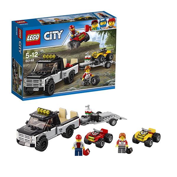 Купить LEGO City 60148 Конструктор ЛЕГО Город Гоночная команда, Конструктор LEGO