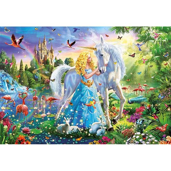 Educa 17654 Пазл 1000 деталей Принцесса и единорог - Настольные игры