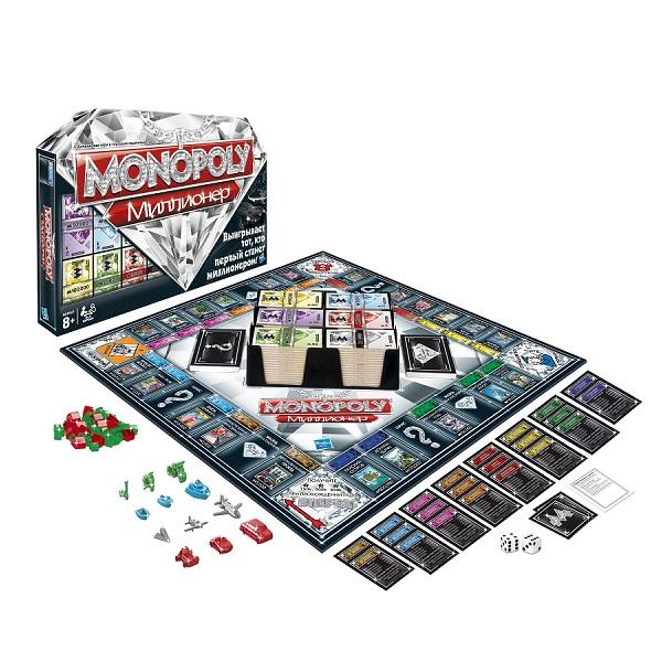 Hasbro Monopoly 98838 Игра Монополия Миллионер, арт:101504 - Монополия, Настольные игры