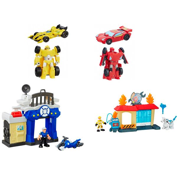 Hasbro Playskool Heroes B5582N Трансформеры Спасатели: Гоночные машинки + Спасатели - Любимые герои, артикул:151467