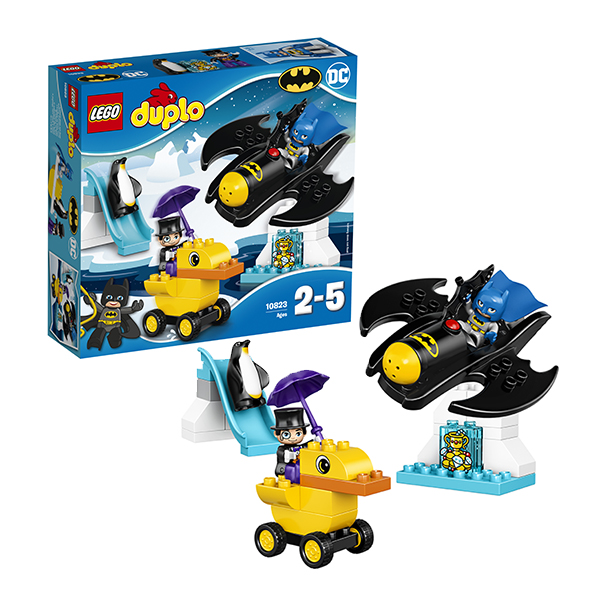 Купить LEGO DUPLO 10823 Конструктор ЛЕГО ДУПЛО Приключения на Бэтмолёте, Конструктор LEGO