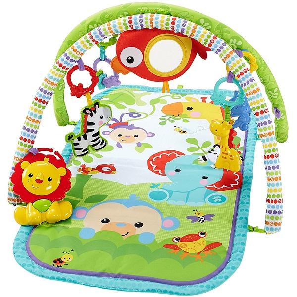 Купить Mattel Fisher-Price CHP85 Фишер Прайс Музыкальный игровой коврик 3-в-1 Друзья из тропического леса , Развивающие игрушки для малышей Mattel Fisher-Price