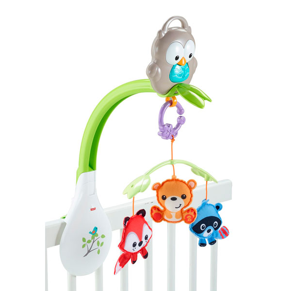 Mattel Fisher-Price CDM84 Музыкальный мобиль 3-в-1 Лесные друзья - Игрушки для малышей