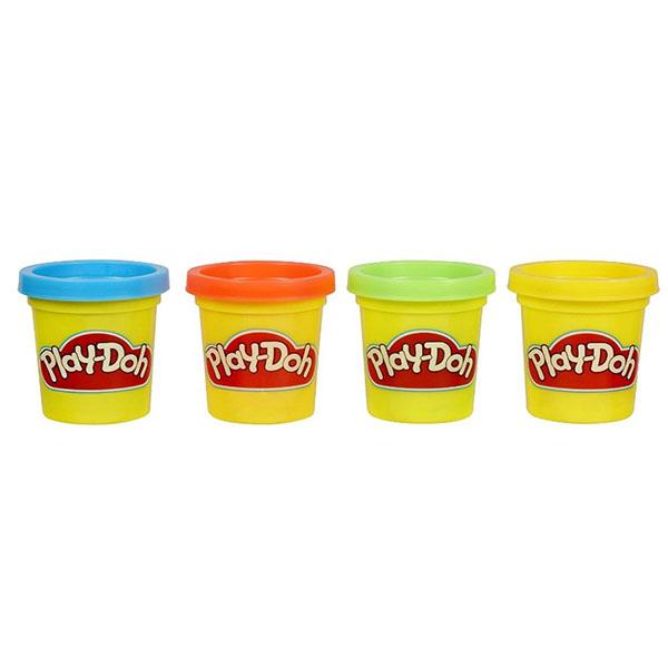 Купить Hasbro Play-Doh 23241 Набор из 4 мини-баночек, Пластилин и масса для лепки Hasbro Play-Doh