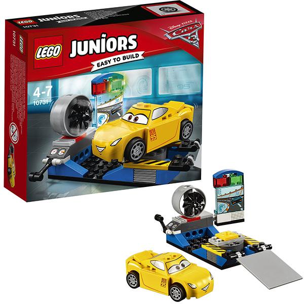 Lego Juniors 10731 Конструктор Лего Джуниорс Тачки Гоночный тренажёр Крус Рамирес