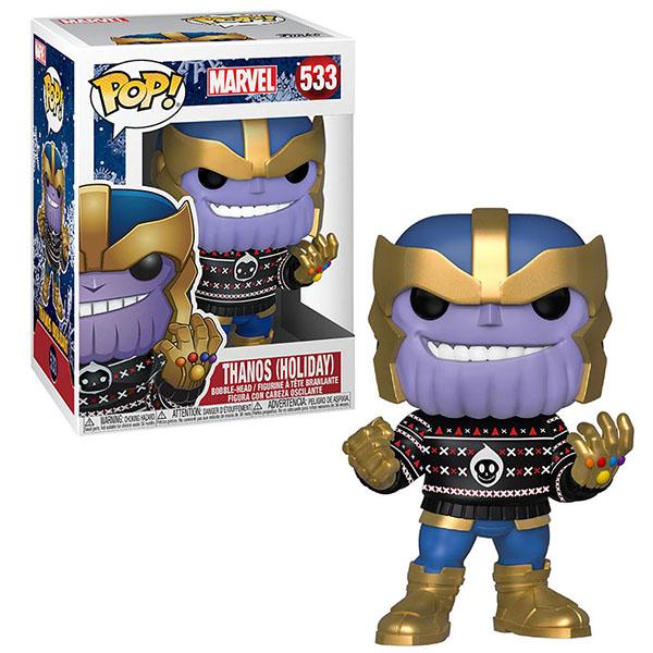 Купить Funko 43336F Фигурка Funko POP! Bobble: Marvel: Holiday: Thanos, Игровые наборы и фигурки для детей Funko