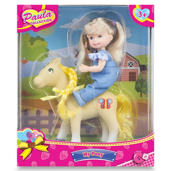 Купить Paula MC23034b Игровой набор Прогулка с пони блондинка, Игровые наборы Paula