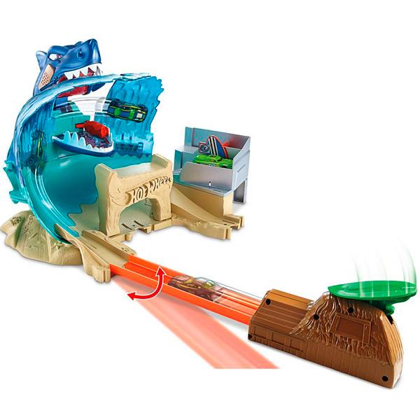 Купить Mattel Hot Wheels FNB21 Хот Вилс Сити Игровой набор Схватка с акулой , автотрек Mattel Hot Wheels