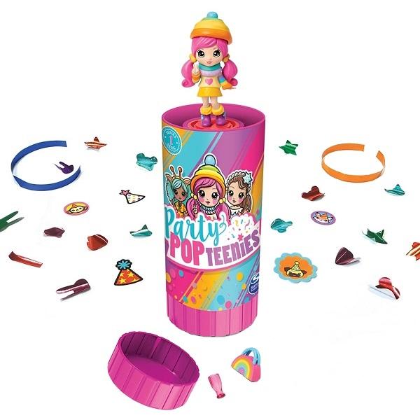 Party Popteenies 46800 Хлопушка с сюрпризом (1 кукла), арт:155167 - Мини наборы, Игровые наборы