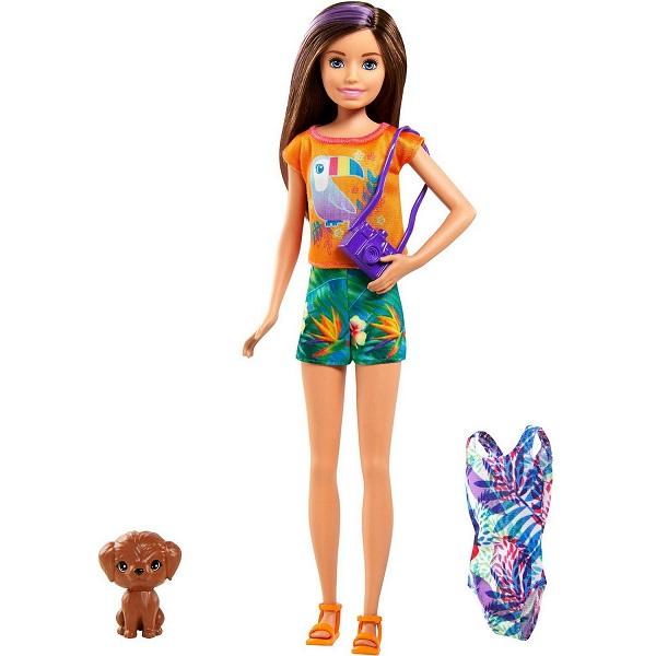 Купить Mattel Barbie GRT89 Барби Игровой Набор кукла Стейси рыжеволосая в платье с питомцем и аксессуарами, Игровой набор Mattel Barbie