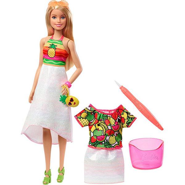 Mattel Barbie GBK18 Barbie x Crayola Фруктовый сюрприз (блондинка)