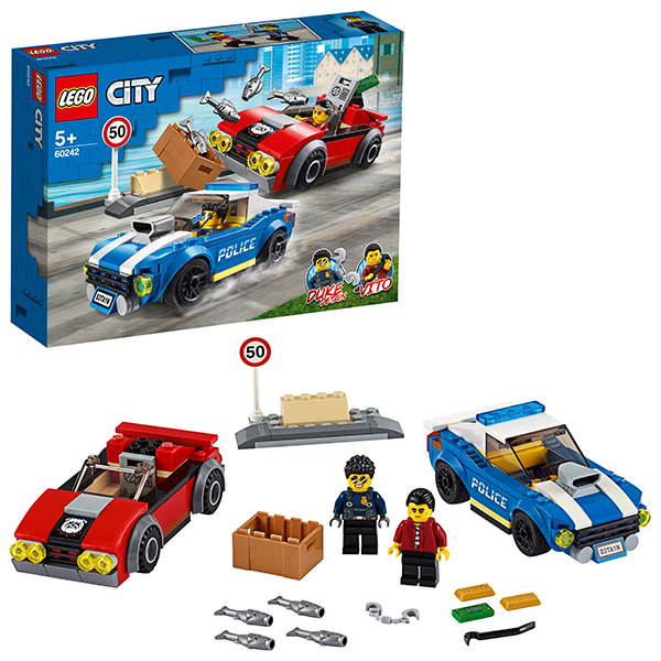 Купить LEGO City 60242 Конструктор ЛЕГО Город Арест на шоссе, Конструкторы LEGO