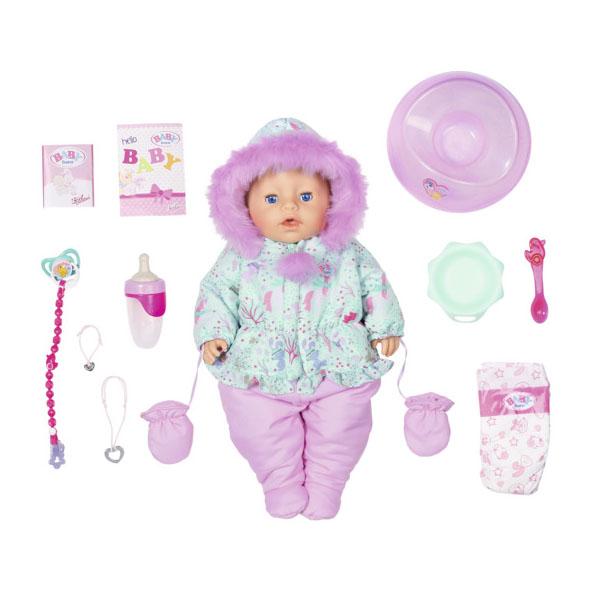 Купить Zapf Creation Baby born 827-529 Бэби Борн Кукла Интерактивная Зимняя, 43 см, Куклы и пупсы Zapf Creation