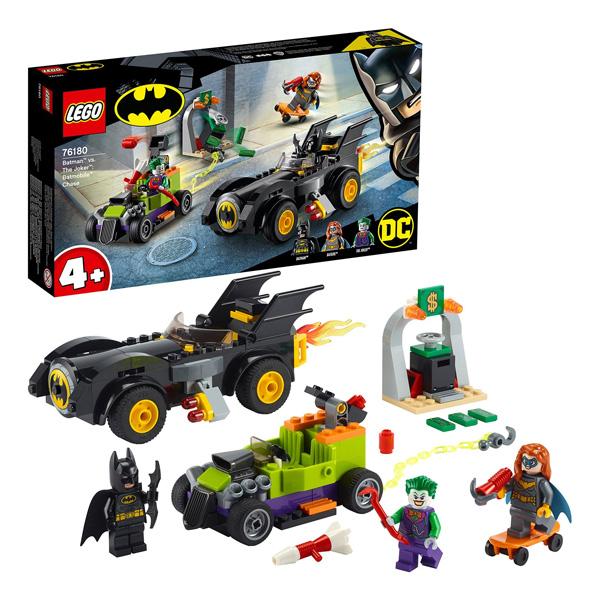 Купить LEGO Super Heroes 76180 Конструктор ЛЕГО Супер Герои Бэтмен против Джокера: погоня на Бэтмобиле, Конструкторы LEGO