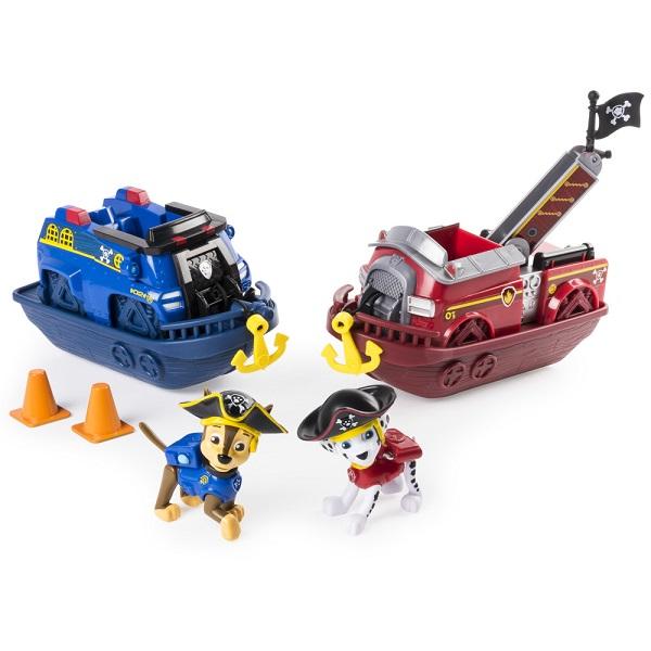Paw Patrol 16665c Щенячий патруль Игровой набор кораблей Маршала и Чейза, арт:155650 - Любимые герои, Игровые наборы