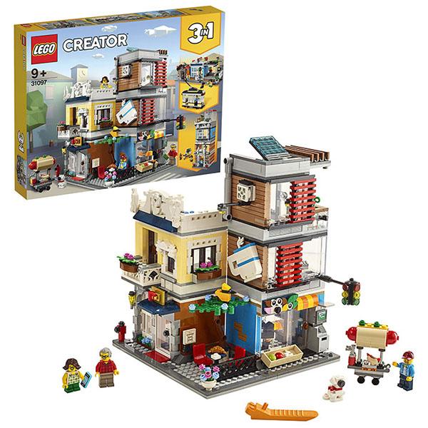 Купить LEGO Creator 31097 Конструктор ЛЕГО Криэйтор Зоомагазин и кафе в центре города, Конструктор LEGO