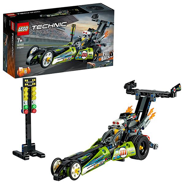 Купить LEGO Technic 42103 Конструктор ЛЕГО Техник Драгстер, Конструкторы LEGO