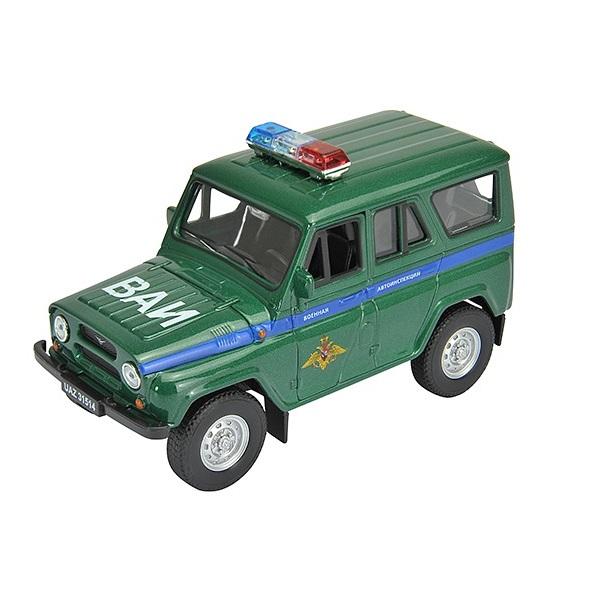Машинка инерционная Welly 42380MC Велли Модель машины 1:34-39 УАЗ 31514 Военная Автоинспекция