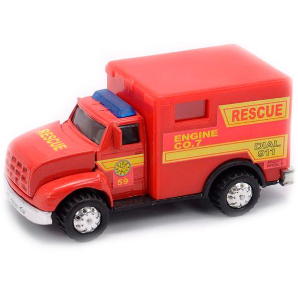 Машинка Soma 78178 Пожарная машина 12 см фото