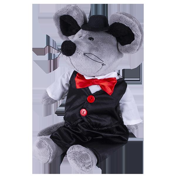 Купить SOFTOY S890/20 Мягкая игрушка Мышь в костюме, 36см, Мягкие игрушки SOFTOY