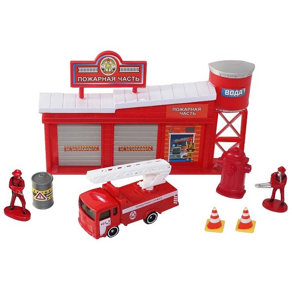 Машинки и техника ТМ Wincars — Wincars 30812 Набор Пожарная часть