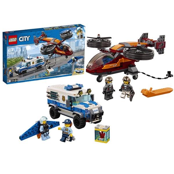 Купить Lego City 60209 Конструктор Лего Город Воздушная полиция: Кража бриллиантов, Конструкторы LEGO