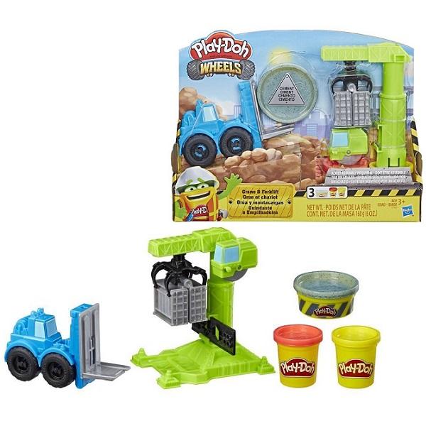 Купить Hasbro Play-Doh E5400 Игровой набор Кран-Погрузчик , Пластилин Hasbro Play-Doh