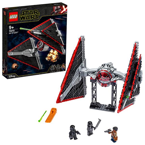 Купить LEGO Star Wars 75272 Конструктор ЛЕГО Звездные войны Истребитель СИД ситхов, Конструкторы LEGO