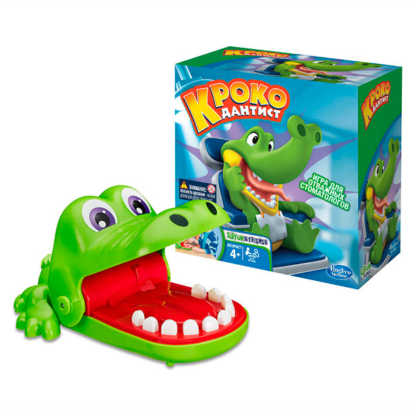 Купить Hasbro Other Games B0408 Игра Крокодильчик Дантист, Настольная игра Hasbro Other Games