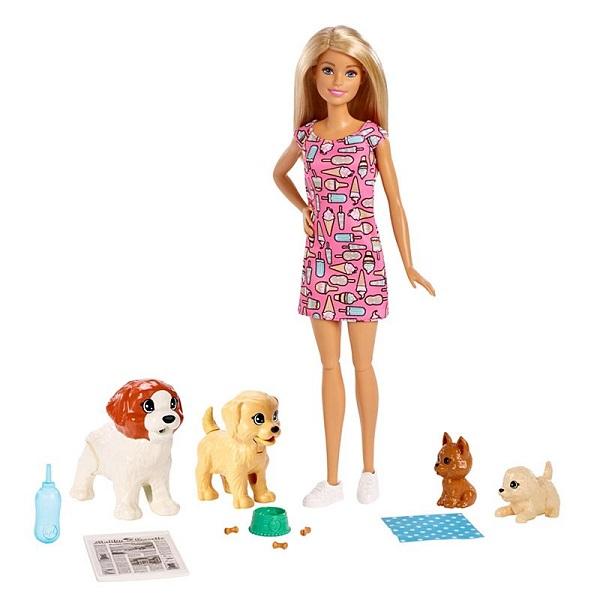 Mattel Barbie FXH08 Барби и щенки - Куклы и аксессуары