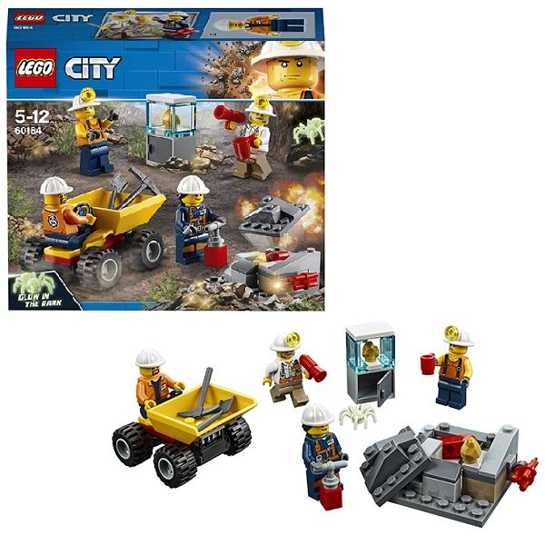 Купить LEGO City 60184 Конструктор ЛЕГО Город Бригада шахтеров, Конструкторы LEGO