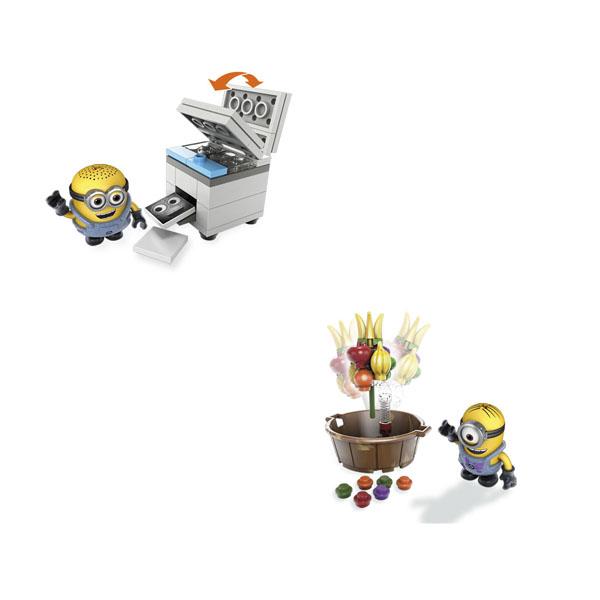 Купить Mattel Mega Bloks DMV20 Мега Блокс Миньоны: весёлые мини-игровые наборы, Конструктор Mattel Mega Bloks