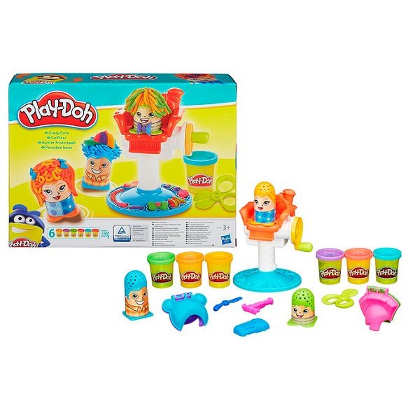 """Hasbro Play-Doh B1155 Игровой набор """"Сумасшедшие прически"""""""