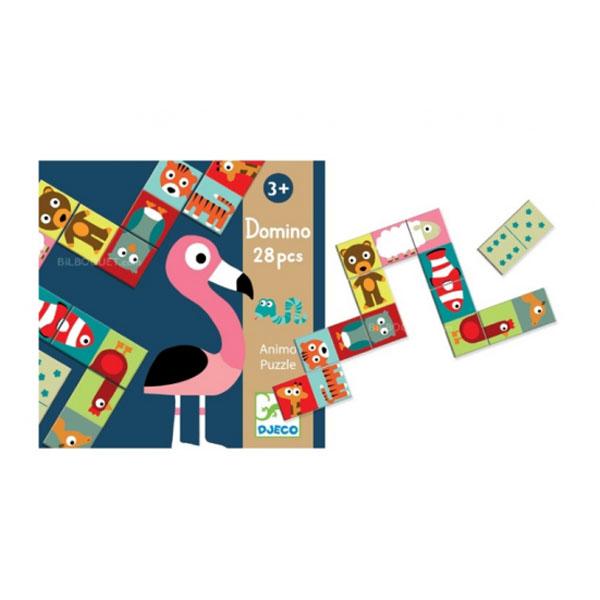Купить DJECO DJ08165 Детская настольная игра Домино Животные
