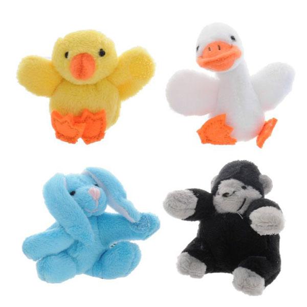 Купить Beanzees B34041 Бинзис Мини плюш в наборе Цыпленок, Утенок, Кролик, Горилла , Игровые наборы Beanzeez