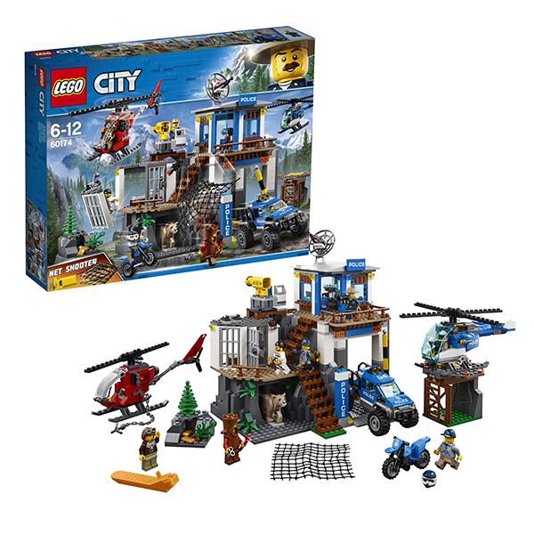 Купить LEGO City 60174 Конструктор ЛЕГО Город Полицейский участок в горах, Конструкторы LEGO