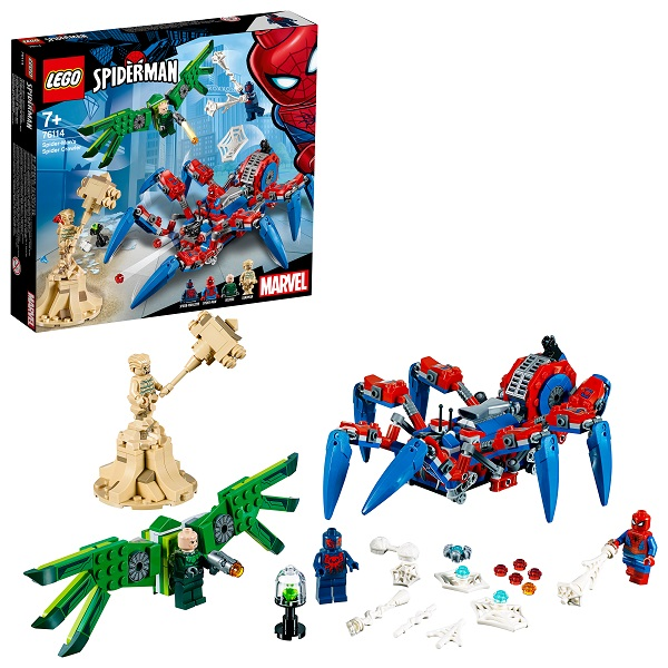 Купить LEGO Super Heroes 76114 Конструктор ЛЕГО Супер Герои Человек-паук: Паучий вездеход, Конструкторы LEGO