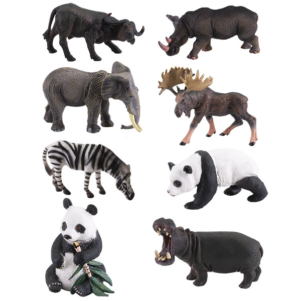 """Игровые наборы и фигурки для детей Игрики ZOO TAV004 Фигурка """"Травоядные"""", 8 видов (в ассортименте) фото"""