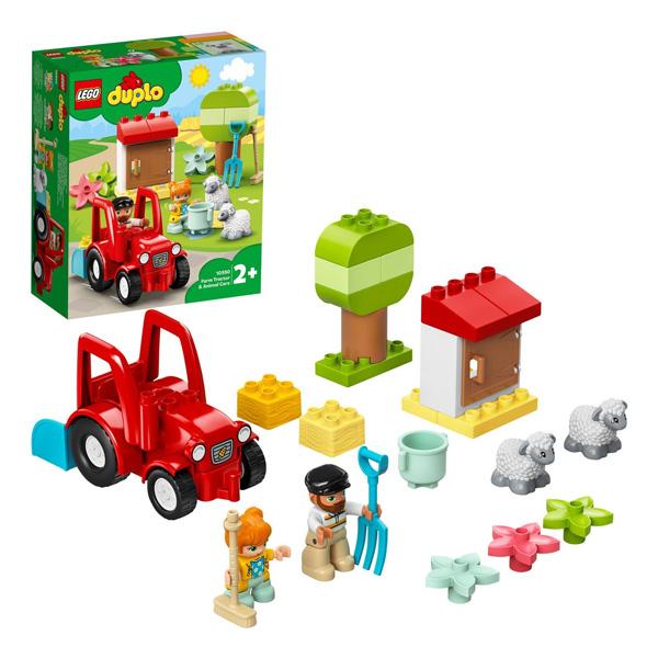 Купить LEGO DUPLO 10950 Конструктор ЛЕГО ДУПЛО Фермерский трактор и животные, Конструкторы LEGO