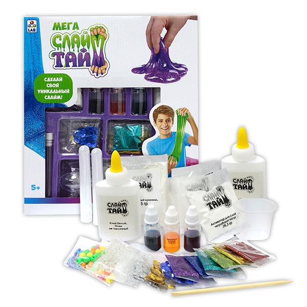 Купить 1toy Слайм Тайм T12033 Мега набор Сделай слайм в большой коробке с окном, Игровые наборы 1toy