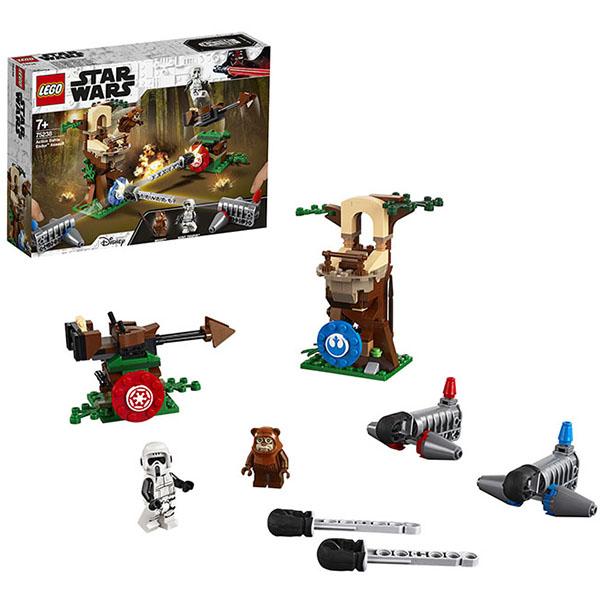 Купить LEGO Star Wars 75238 Конструктор ЛЕГО Звездные Войны Нападение на планету Эндор, Конструкторы LEGO